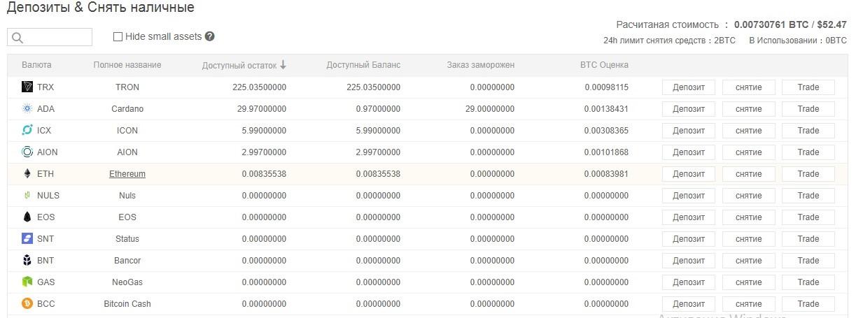 перевод крипты с биржи Binance